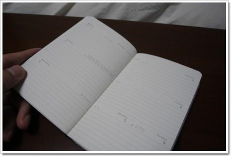 MOLESKINE Diary 2008 ウィークリー・ダイアリーの写真